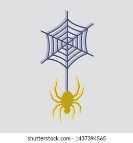 Spider icon.Isometric and 3D view.