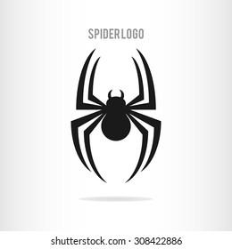 Spider logo template. Spider icon. Flat spider