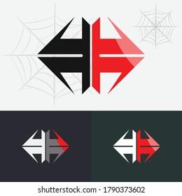 Spider logo template, Spider Insect Arthropod Emblem Sport logo design