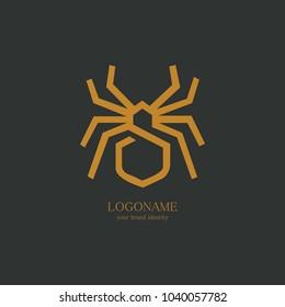 spider logo vector