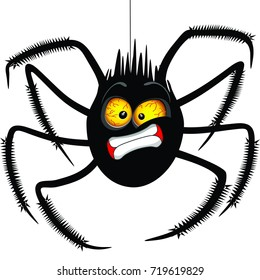 """Spider """"Oh No"""" Face Emoticon Cartoon Character"""