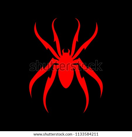 Spider Red on Black