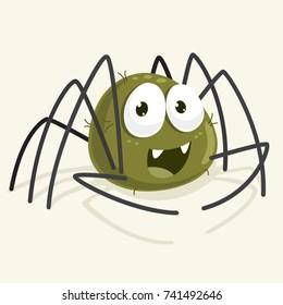 Spider Vector Cartoon