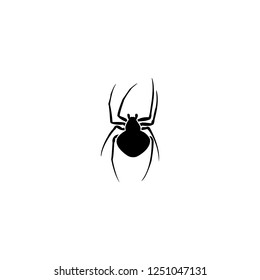 spider vector icon. spider sign on white background. spider icon for web and app