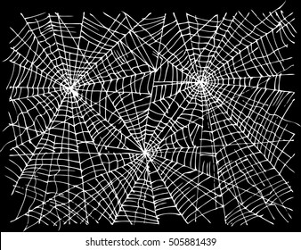 Spider web background for Halloween