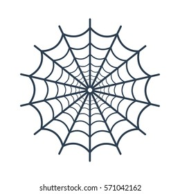 Spider web icon on white background. Vector illustration
