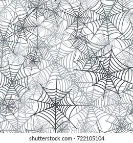 Spider web network, seamless background. Webs seamless pattern