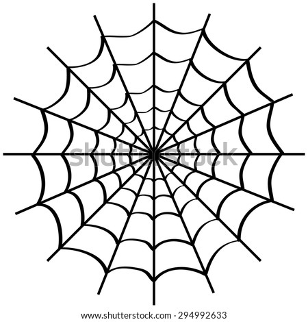 spider web on white background vector stock vector royalty free A Tale the Prairie spider web on white background vector illustration