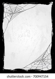 Spider web vector frame vector illustration