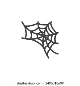 Spider web vector icon. filled flat sign for mobile concept and web design. Halloween spiderweb glyph icon. Symbol, logo illustration. Vector graphics