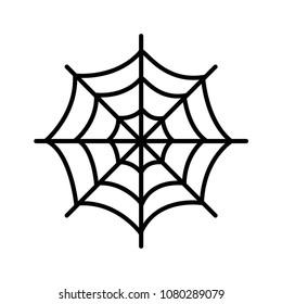 spiderweb icon logo illustration vector template