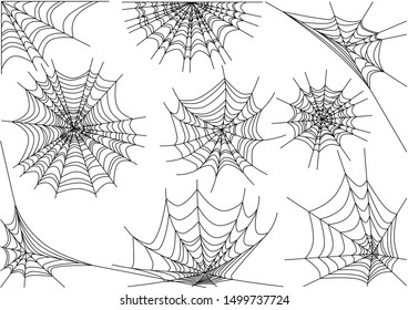 spiderweb monochrome. spiderweb vector illustration on white.