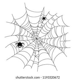 Spiderweb vector illustration set
