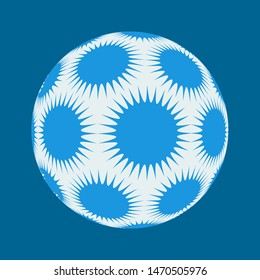 spiky stars ball in blue and white