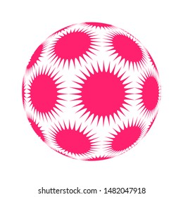 spiky stars ball in pop pink and white