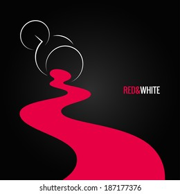 spilled wine glass design background