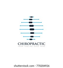 spin chiropractic logo, icon design template