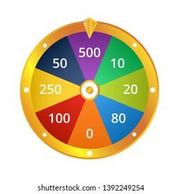 Spin Wheel Game Winning Money Vector, Spin & Win Wheel, Win Cash Prizes Spinning Wheel Vector