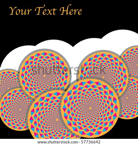 spin wheels presentation motion illusion stock vector royalty free