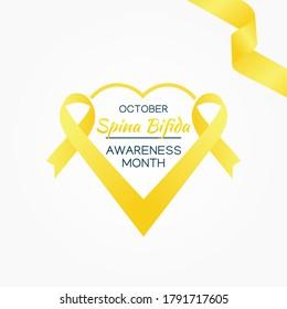 Spina Bifida  Awareness Month Vector Illustration