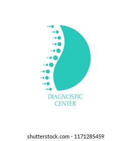 Spine diagnostic center. Vector logo design template.