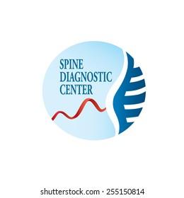 Spine diagnostic logo vector