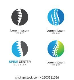 Spine logo template vector icon design
