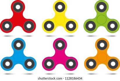 Spinner color set. Vector Illustration