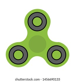 Spinner toy icon design vector template