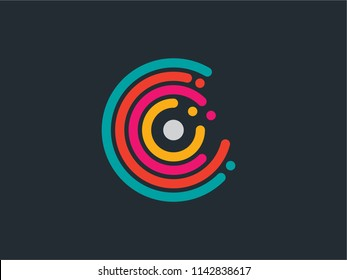 spinning circles vector logo