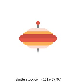 spinning top glyph flat vector icon