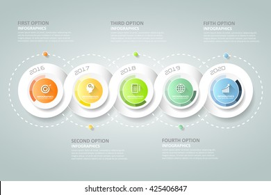 Spiral 3d infographic 5 steps, Business concept Infographic template, Can be used for workflow layout, diagram, number option, timeline, milestones.