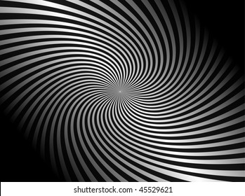 Spiral abstract background black and white, vector