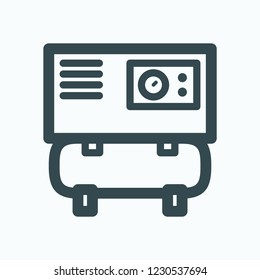 Spiral air compressor icon, scroll industrial compressor vector icon