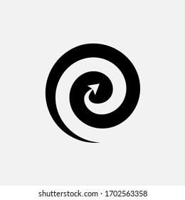 spiral and arrow logo icon vector design template