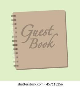 Spiral bound guestbook