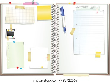 Spiral bound paper sketchpad.