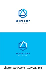 Spiral corporation logo template.