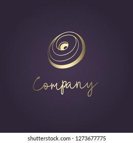 Spiral elegant logo. Yoga studio, spiritual, fashion concept. Vector