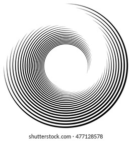 Spiral element vector illustration