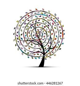 Spiral floral tree for your design