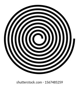 Spiral Helix Gyre icon black color vector illustration flat style image icon black color
