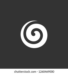 spiral icon vector. spiral sign on black background. spiral icon for web and app