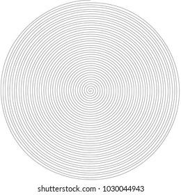 Spiral line shape vector. Design black on white. Design for texture, material, background. Set 1