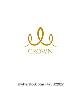 Spiral line. Vector logo royal crown.