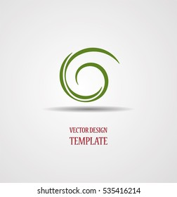 Spiral Logo with lines. Swirl shape unusual icon Design template .  Vector Illustration.