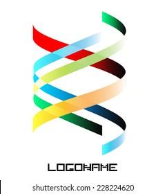 Spiral Ribbon Logo or Icon Design . Vector Collection .
