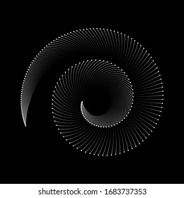 Spiral sound wave rhythm line dynamic abstract vector background