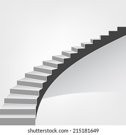 spiral staircase way up vector background illustration