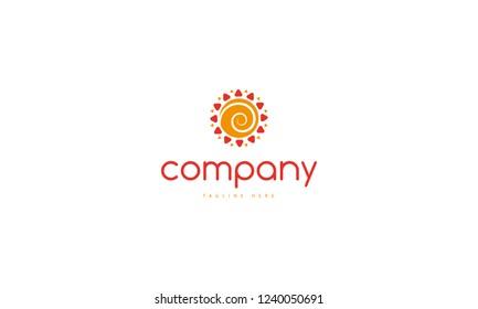 Spiral Sun vector logo image